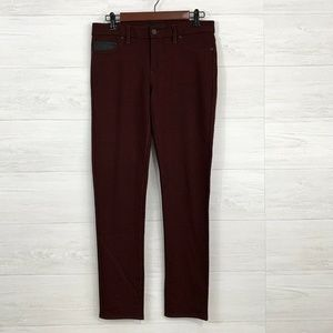 Calvin Klein Jeans SZ 8 Burgundy Stretch Knit Casu